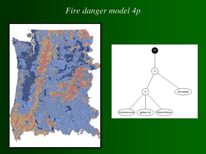 Fire danger model 4p