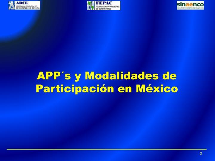 APP´s y Modalidades de Participación en México