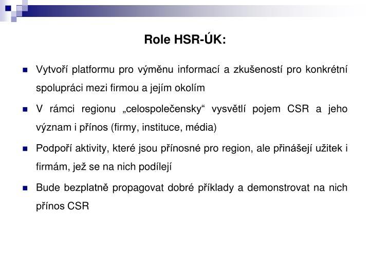 Role HSR-ÚK: