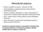 metodick pokyny