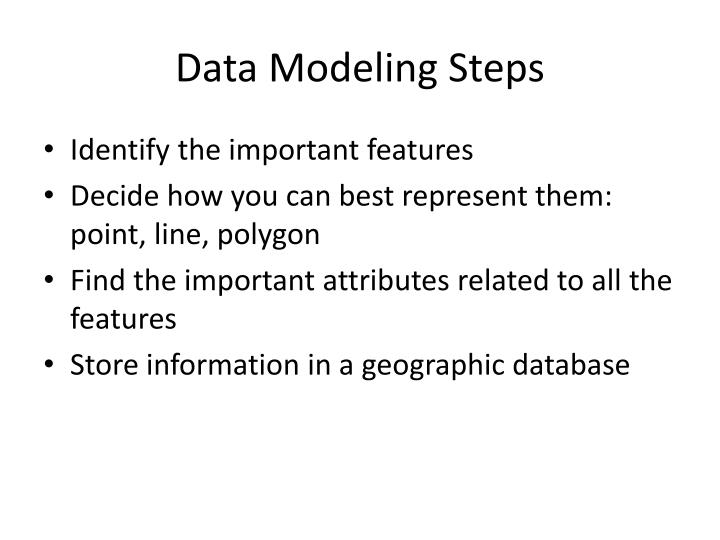 Data Modeling Steps