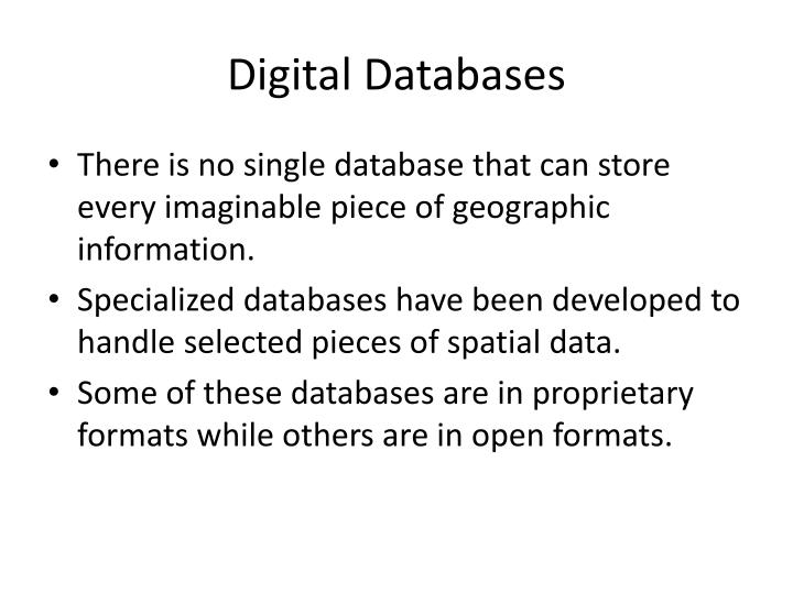 Digital Databases