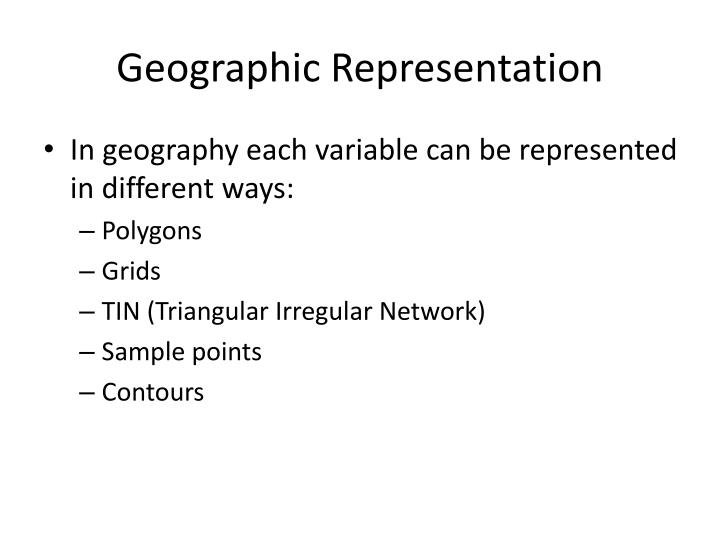 Geographic Representation