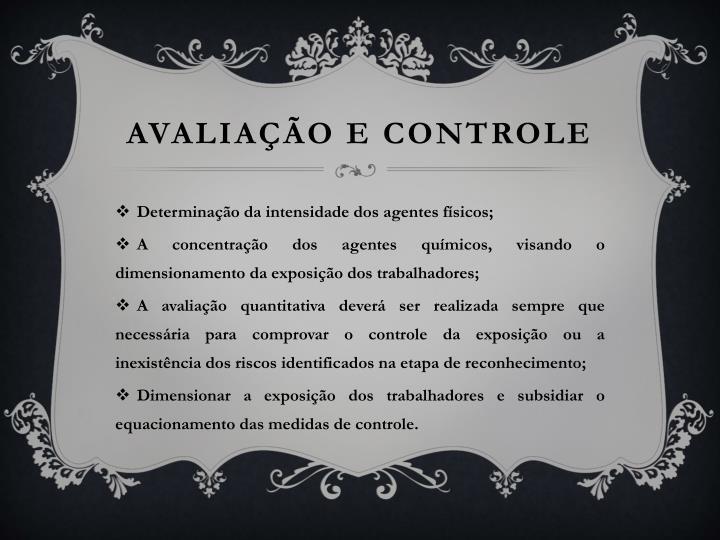 AVALIAÇÃO E CONTROLE