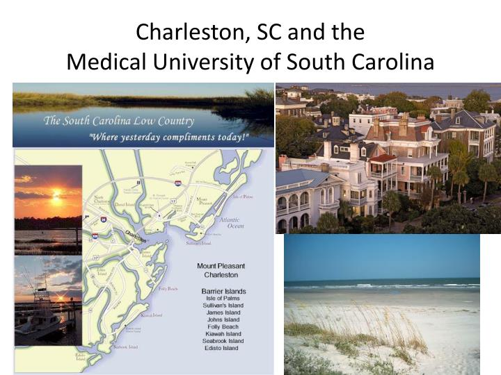 Charleston sc and the medical university of south carolina