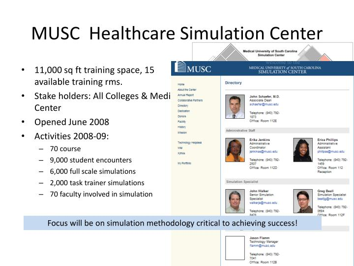 MUSC  Healthcare Simulation Center