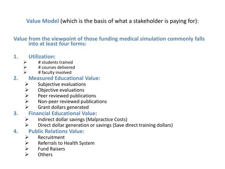 Value Model