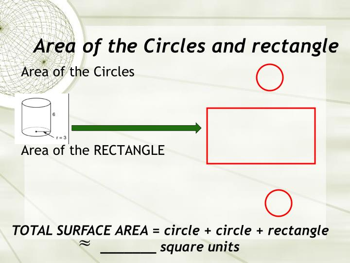 Area of the Circles and rectangle