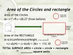 area of the circles and rectangle3