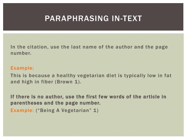 Paraphrasing in-TExt