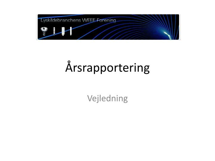 Rsrapportering