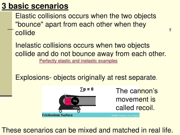 3 basic scenarios