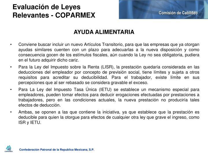 Evaluación de Leyes Relevantes - COPARMEX