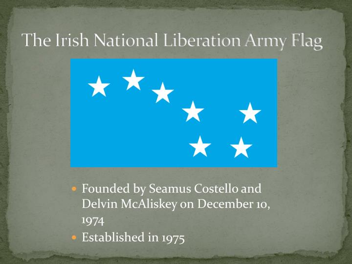 The irish national liberation army flag