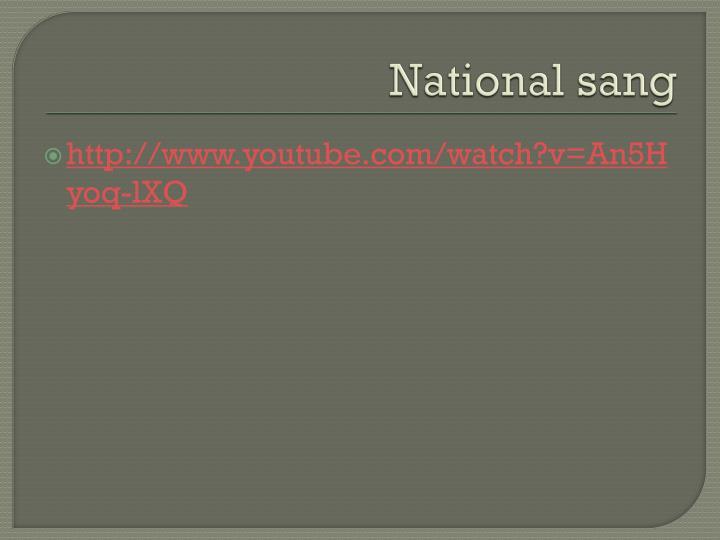 National sang