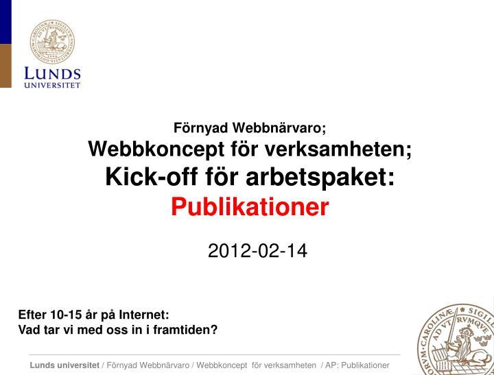 Förnyad Webbnärvaro;