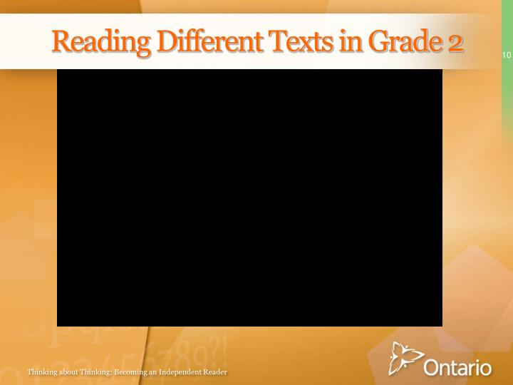 Reading Different Texts in Grade 2