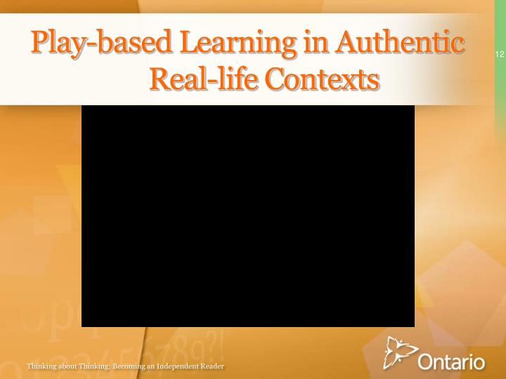 Play-based Learning in Authentic