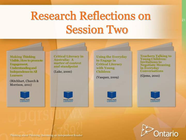 Research Reflections on