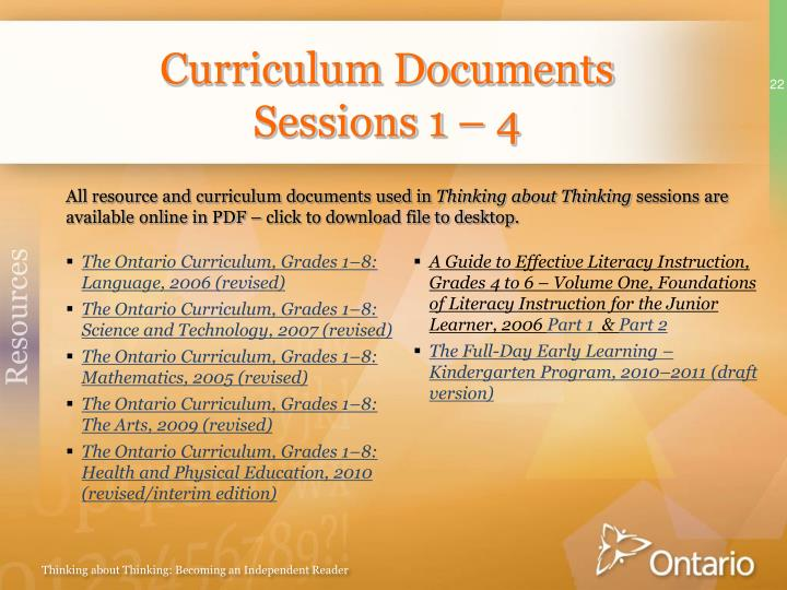 Curriculum Documents