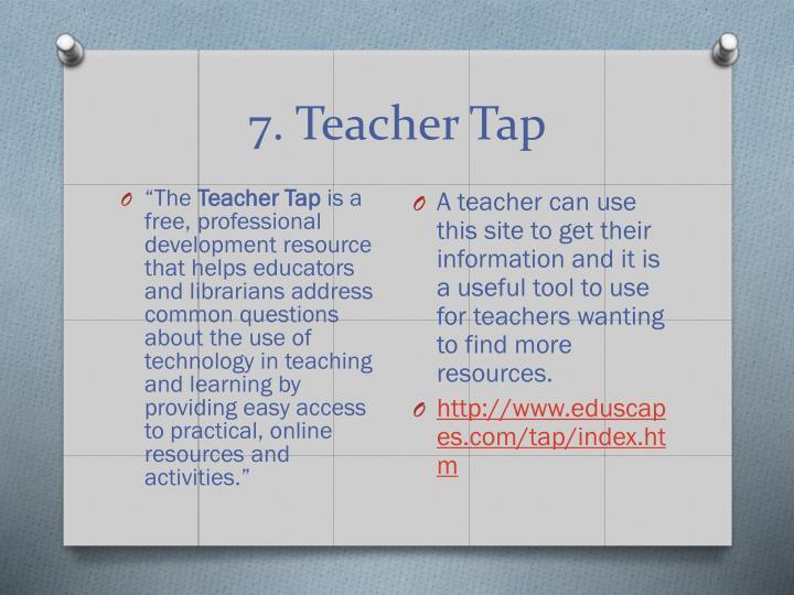 7. Teacher Tap