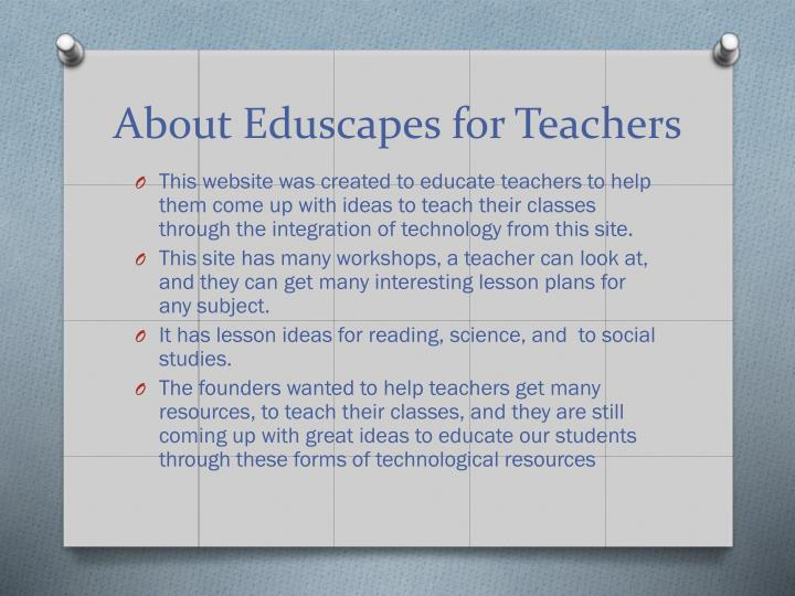 About eduscapes for teachers