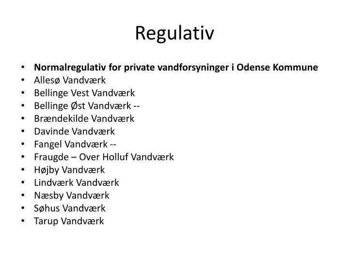 Regulativ