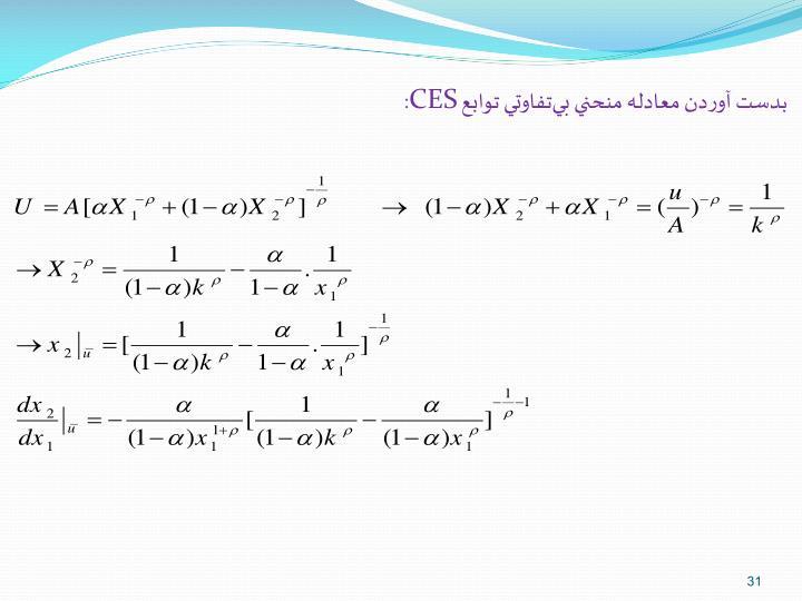 بدست آوردن معادله منحني بيتفاوتي توابع