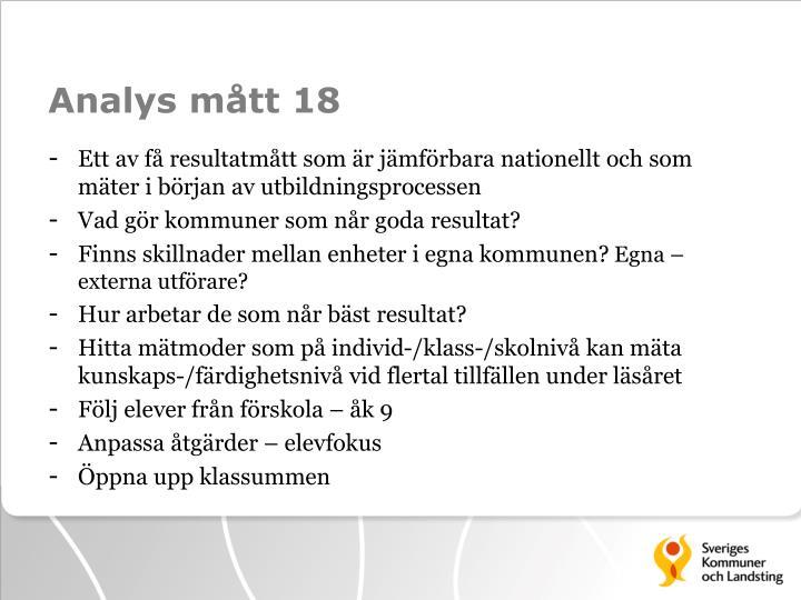 Analys mått 18