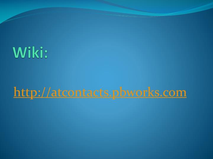 Wiki: