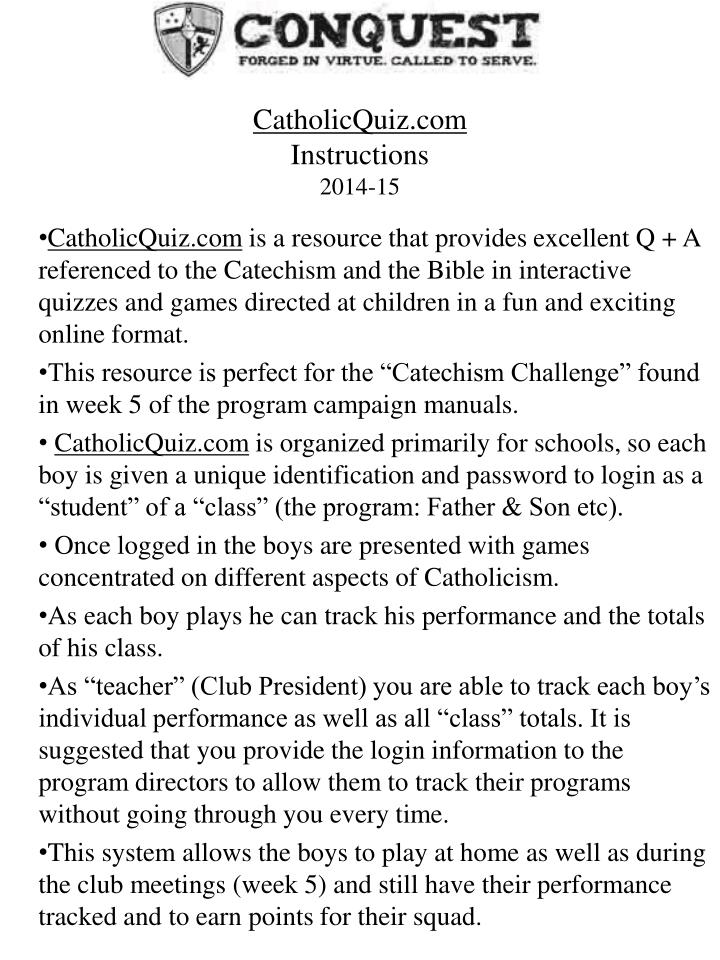 CatholicQuiz.com