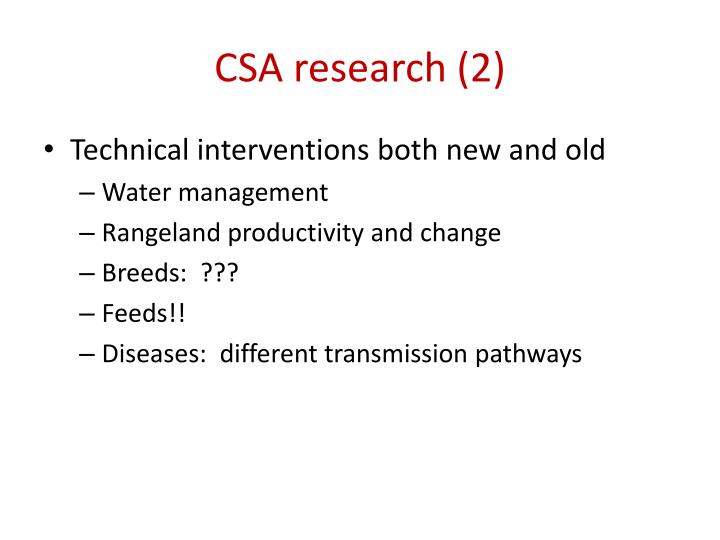 CSA research (2)
