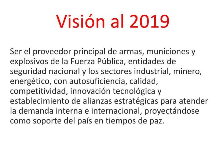 Visión al 2019