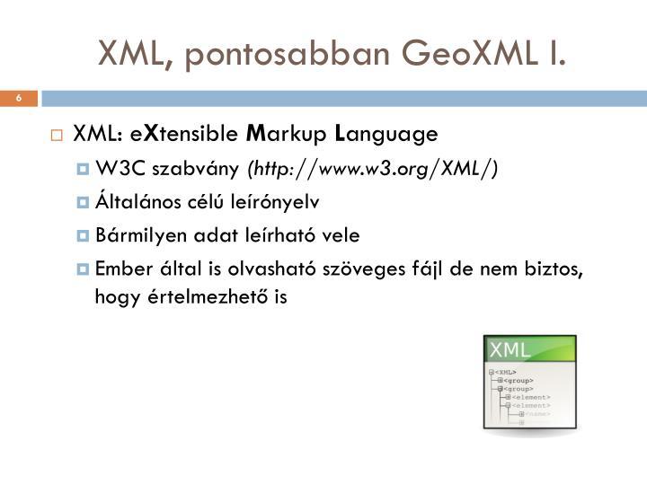 XML, pontosabban