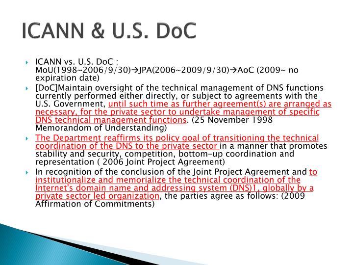 ICANN & U.S.