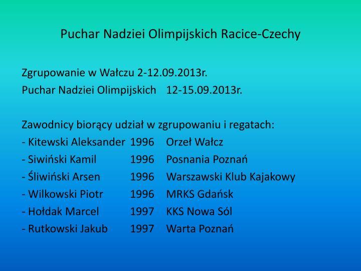 Puchar Nadziei Olimpijskich Racice-Czechy