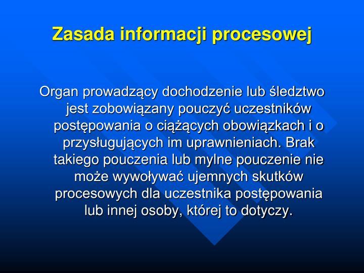 Zasada informacji procesowej
