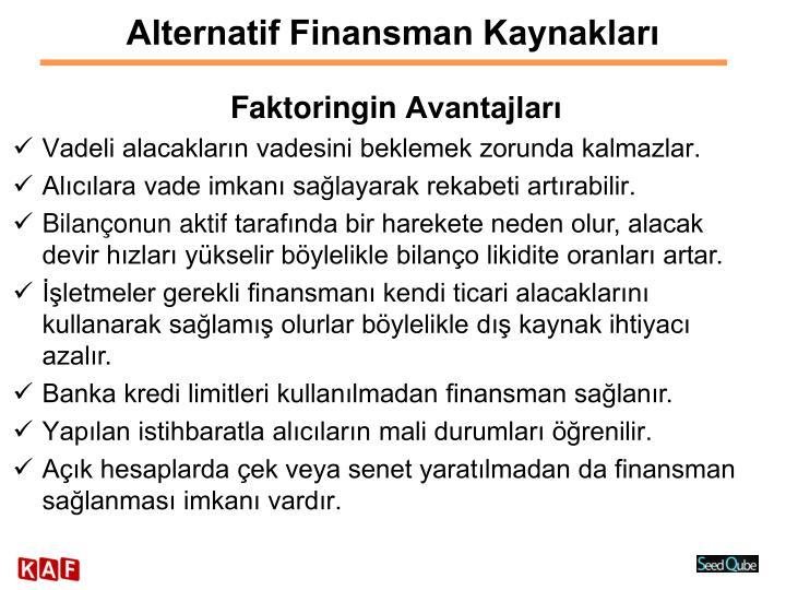 Alternatif Finansman Kaynakları