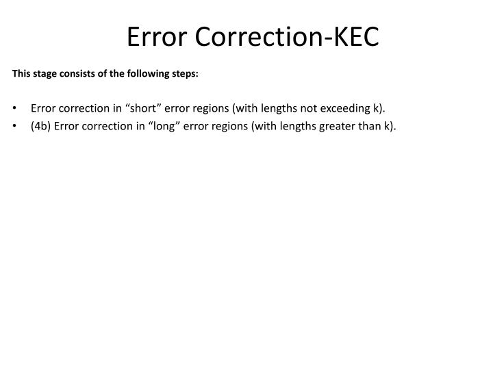 Error Correction-KEC