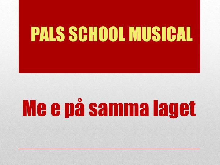 PALS SCHOOL MUSICAL