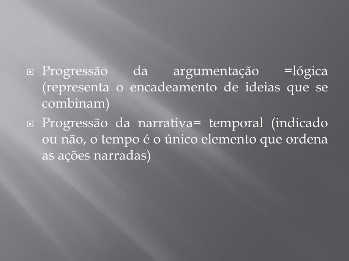Progressão da argumentação