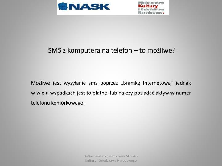 SMS z komputera na telefon – to możliwe?
