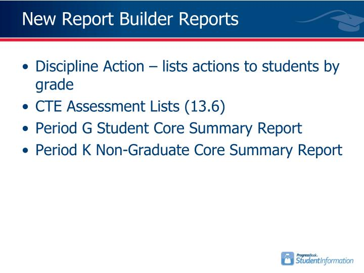 New Report Builder Reports