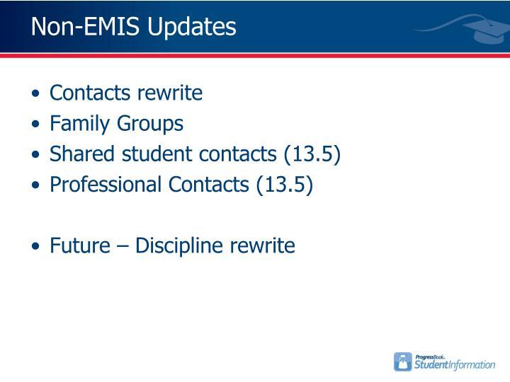 Non-EMIS Updates
