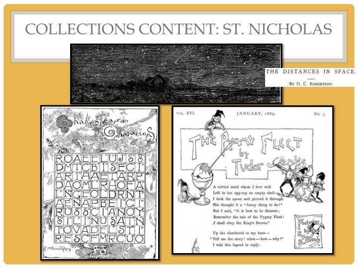 COLLECTIONS CONTENT: St. Nicholas