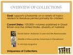 overview of collections