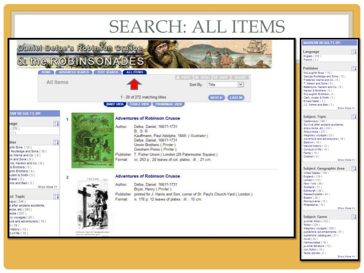 Search: ALL ITEMS
