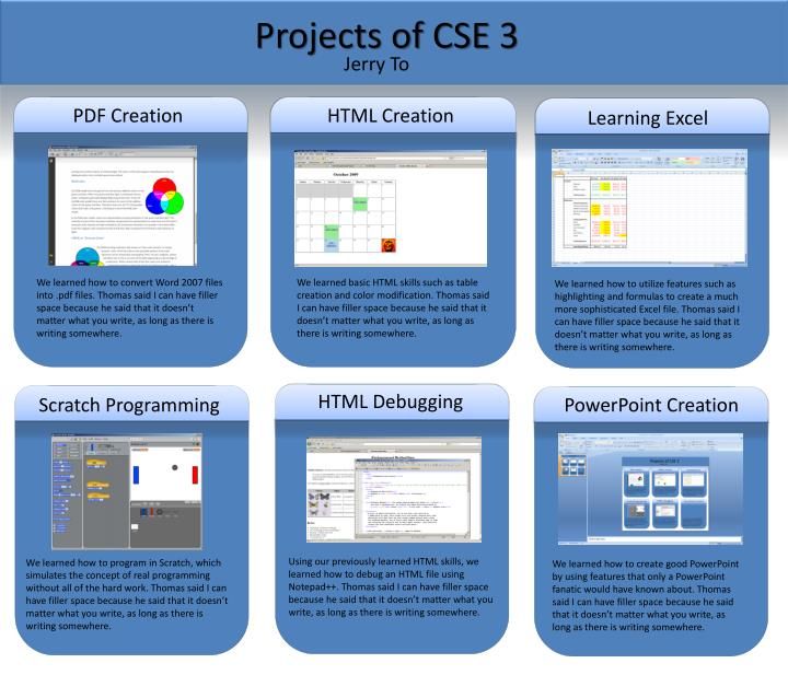 Projects of CSE 3