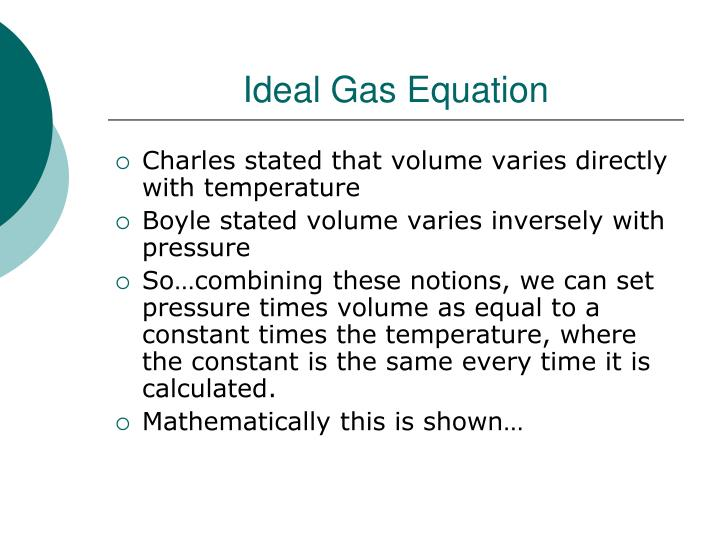 Ideal gas equation1