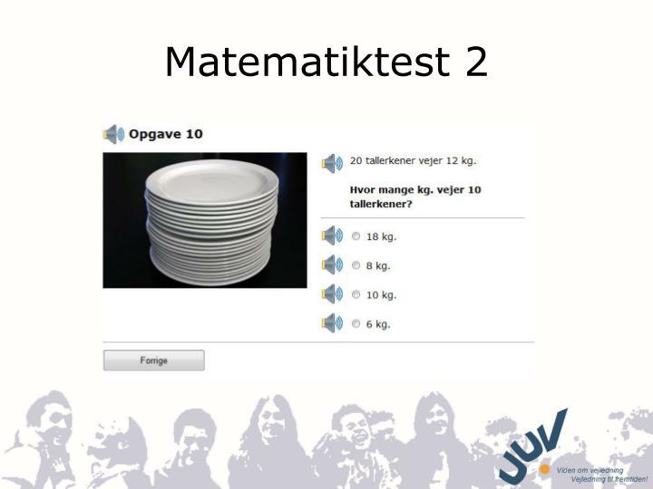 Matematiktest 2